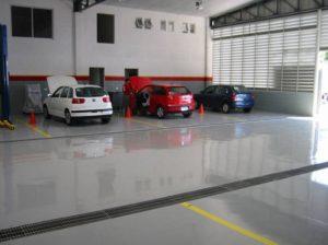 Промышленные полы для автосервисов и автосалонов